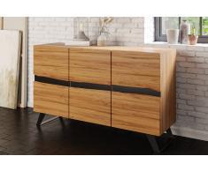 Sideboard 160 x 44 x 85 cm Akazienholz massiv & natur SARA Vollholz