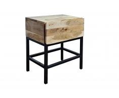 Nachttisch 40 x 30 x 50 cm Akazienholz massiv & natur NAGAR 2