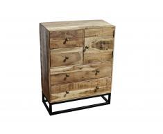 Sideboard 65 x 30 x 90 cm Akazienholz massiv & natur NAGAR 2