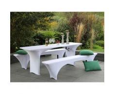 GO-DE Textil Spann-Husse für Bierzeltgarnitur 3-tlg (70cm Tisch)