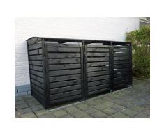 """Promadino Mülltonnenbox """"Vario III"""" für 3 Tonnen (anthrazit)"""