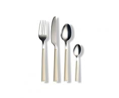 ECHTWERK Besteck Set Basic mit Kunststoffgriffen, 16-teilig, Für bis zu 4 Personen, Edelstahl 18/0 (Creme)