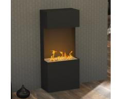 bergamo Turan 980 [Design Bioethanol Kamin]: schwarz-grau