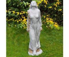 Gartenfigur Rosenmädchen Desirée gold