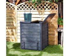 Komposter Thermo Wood 600 l, mit Bodengitter, anthrazit