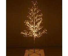 Micro-LED-Baum Snow Light, klein, 150 cm, Metall, weiß