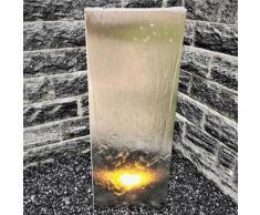 Wasserwand Husum klein Edelstahl matt, mit Zubehör, 130x45x6cm