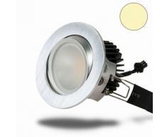 LED Einbaustrahler COB 68, Alu gebürstet, 8W, warmweiß