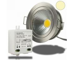 LED Einbaustrahler COB mit Reflektor, 5W, nickel geb., warmweiss