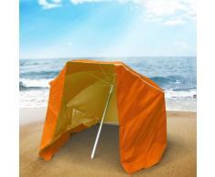 Strandschirm Sonnenschirm tragbar licht alu Zelt UV Schutz 200 cm P...
