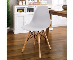 Stuhl DSW WOODEN design Küche Bar Wartezimmer und Büro Polypropylen...