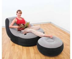 Intex 68564 aufblasbarer Luftsessel Lounge mit Fußbank
