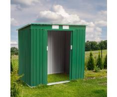 Metallgerätehaus verzinktem Blech grün MEDIUM
