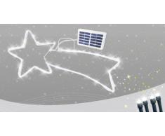 Weihnachtsstern mit Solar beleuchtung außen