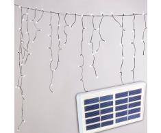 Solar Weihnachtsbeleuchtung außen Schneefall effekt 100 LED