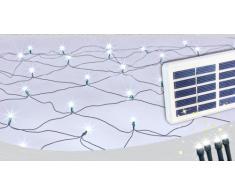 Solar Weihnachtsbeleuchtung außen Dekorationsnetz 50 LED
