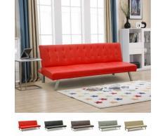 Schlafsofa 3-Sitzer aus Kunstleder für zu Hause und Lokale ZAFFIRO