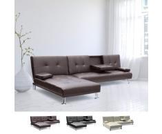 Schlafsofa Ecksofa 3-Sitzer mit Armlehne für Wohnzimmer COBALT