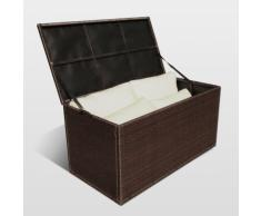Polyrattan Kissenbox Auflagenbox outdoor Gartenbox am Pool STORAGE BOX