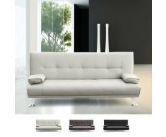 2 Sitzer Sofa Bett im Kunstleder mit OLIVINA Armlehnen für zu Hause...