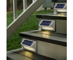 Wandleuchte Außen Garten LED Solarleuchte Solarlampe SHARK