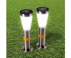 Gartenlampen Außen Garten LED Solarleuchten Solarlampen 2 stk