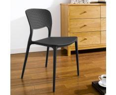 Stapelbarer Polypropylen Stuhl für Draußen Drinnen Küche Café GARDE...