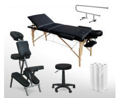Massage-Set Massageliege Massagestuhl Rollhocker Auflagen