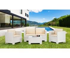 Polyrattan Gartensitzgruppe Lounge Gartenmöbel outdoor tisch kissen...