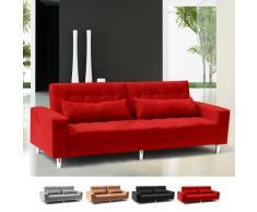 2-Sitzer Sofa mit verstellbare Rückenlehne und Kissen Doppel QUARTZ
