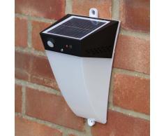 Wandleuchte Außen Garten LED Solarleuchte Solarlampe ALARM