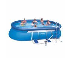 Intex 28192 Oval Frame Aufstellpool Quick up pool 549x305x107