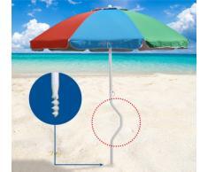 Strandschirm leicht Sonnenschirm mit UV Schutz GiraFacile 200 cm