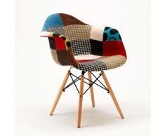 Stühl Sessel ideales Holz für Wohnzimmer Café Lounge Pub daw PATCHWORK