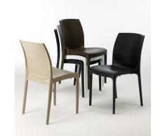 20er Set Polyrattan Stuhl Kunststoff für Café Restaurant BOHEME Gra...
