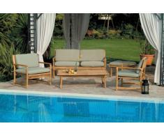 Gartensitzgruppe Lounge Gartenmöbel Bambus BOMBAY Sofa Sessel Couch...