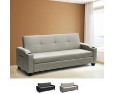 Schlafcouch 2 Sitzer aus Kunstleder mit verstellbarer Rückenlehne u...
