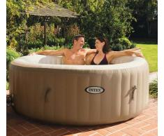 Intex 28408 Whirlpool PureSpa Bubble Spa Aufblasbarer rundes Becken...