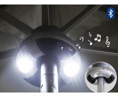 Musikanlage Worldmusic für Sonnenschirm mit LED und Bluetooth