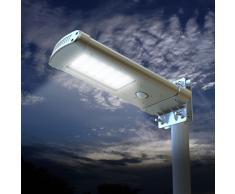 Solar Straßenlaterne Solarleuchte Straßenleuchte 24 SUPER LED