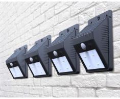 Wandleuchten Außen Garten LED Solarleuchten Solarlampen Bewegungsme...