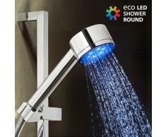 Bigbuy Runder Eco Led Light Duschkopf 230 Gr