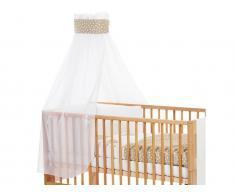 Betthimmel Weiß Punkte Banderole Sand für Kinderbett Babybay,