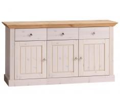 Sideboard 3 Türen, 3 Schublade Steens Monaco,