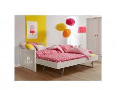 Bettcouch mit Jump-up Gästebett Snow white, 90x200cm, ALTA furniture,