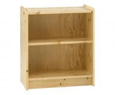 Bücherregal mit 1 Boden Steens for Kids, In White Wash oder Natur lackiert erhältlich