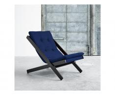 Futon Liegestuhl BOOGIE Karup mit Matratze, Gestell Buche Schwarz lackiert, In verschiedenen Farben erhältlich