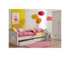 Bettcouch mit 2 Schubladen Snow white, 90x200cm, ALTA furniture,