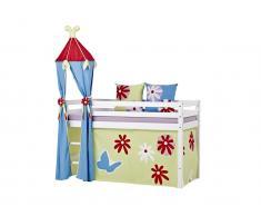 Turm für Spielbett, Halbhoch Bett, Höhe 185cm, Hoppekids Butterfly,