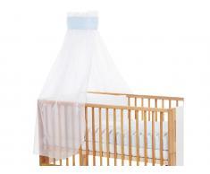 Betthimmel Weiß mit blauer Punkte Banderole für Kinderbett Babybay,